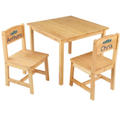 Personalized Aspen Natural Table and Chair Set