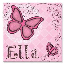 KidKraft Personalized Butterfly Canvas Art
