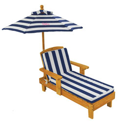 KidKraft Personalized Outdoor Chaise Lounge with Umbrella