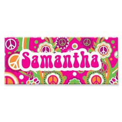 Personalized Rectangle Groovy Canvas Art