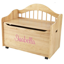 KidKraft Personalized Limited Edition Natural Toy Box