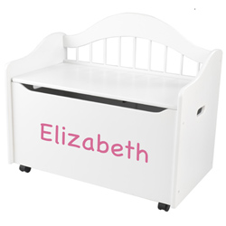 KidKraft Personalized Limited Edition White Toy Box