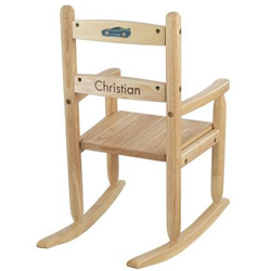 KidKraft Natural Personalized Slat Rocking Chair