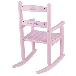 KidKraft Pink Personalized Slat Rocking Chair