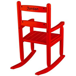KidKraft Red Personalized Slat Rocking Chair