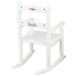 KidKraft White Personalized Slat Rocking Chair