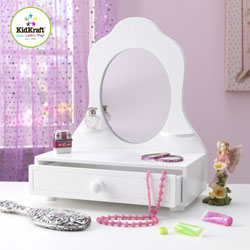 White Table Top Vanity