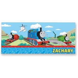 "KidKraft Personalized Thomas & Friendsâ""¢ Rectangle Canvas Art"