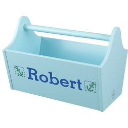 KidKraft Personalized Ice Blue Toy Caddy