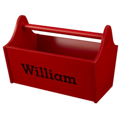 KidKraft Personalized Red Toy Caddy