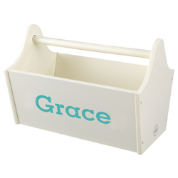 KidKraft Personalized Vanilla Toy Caddy