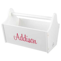 KidKraft Personalized White Toy Caddy