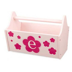 Floral Initial Toy Caddy- Petal