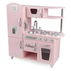 Tasty Treats Get ready to be amazed by your little chef as she cook up a feast for the whole family   With its close attention to detail and interactive features like doors that open and close knobs that turn and click and a cordless phone pretend play becomes more real  The soft pink color is sure to excite your daughter so Bon Apptit  Script Font