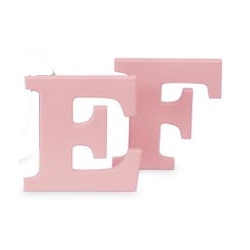8 Inch Wooden Letters-Pink