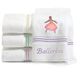 Ballerina Embroidered Bath Towels