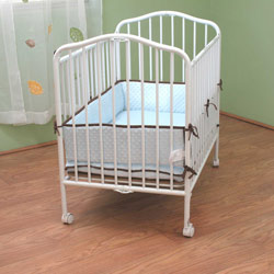 Compact Folding Metal Crib