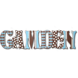 Blue Plaid Wall Letters