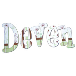 Deven's Chocolate Mint Wall Letters