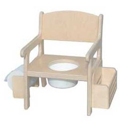Little Colorado Unfinished Fancy Potty Chair With Accessories