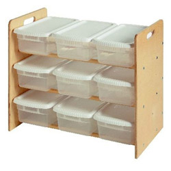 Little Colorado Unfinished Nine Bin Toy Organizer