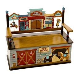 Levels Of Discovery Wild West Toy Box Bench