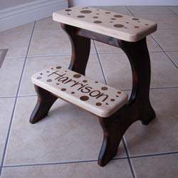 Mocha Dots Double Step Stool