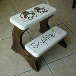 Bunnies Double Step Stool