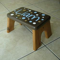 Chocolate Dots Step Stool