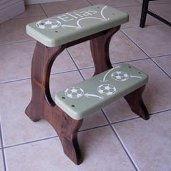Personalized Double Step Soccer Stool