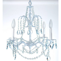 Crystal Blue Chandelier