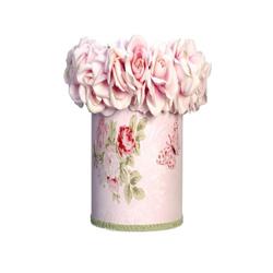 Pink Rose Round Wastebasket
