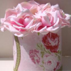 Rose Round Tissue Box