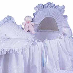 Baby Doll Little Angel Bassinet Liner/Skirt & Hood