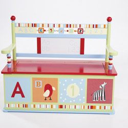 Levels Of Discovery Alphabet Soup Toy Box Bench