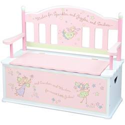 Levels Of Discovery Fairy Wishes Toy Box Bench
