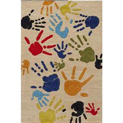 Finger Paint Rug- Ivory