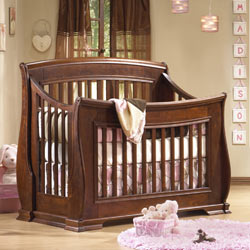 Natart Madison Sleigh Convertible Crib