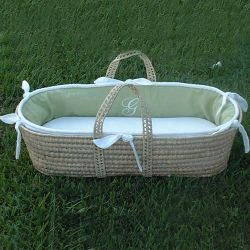 Matching Blanket for Monogram Moses Basket