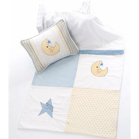 Doodlefish Embroidered Moon & Stars Blanket