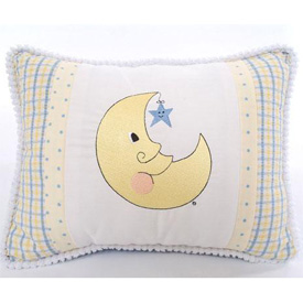 Doodlefish Embroidered Moon & Stars Pillow