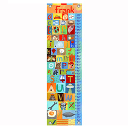 Oopsy Daisy/No Boundaries All Boy Alphabet Growth Chart