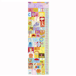 Oopsy Daisy/No Boundaries All Girl Alphabet Growth Chart