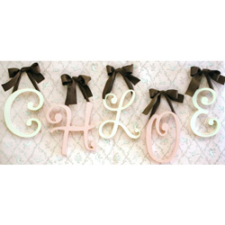 Cursive Wall Letters
