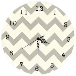 Chevron Gray Wall Clock