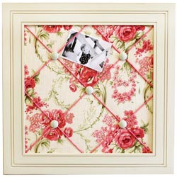 Roses for Bella Fabric Memo Board
