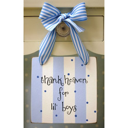 Thank Heaven for Lil Boys Doorknob Hanger