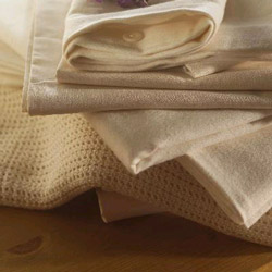 Soft Organic Flannelette Fitted Crib Sheet