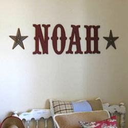 Custom Noah Letters