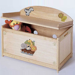Custom Handpainted Noah's Ark Toy Box